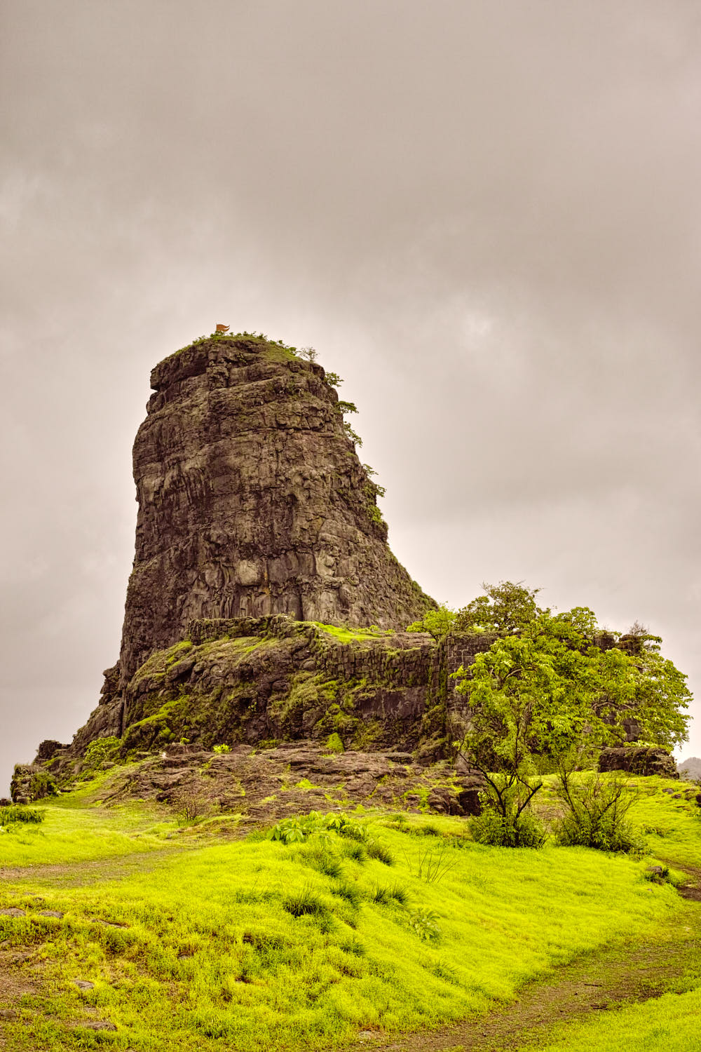 Karnala tower resembles a person making a rude gesture with his finger