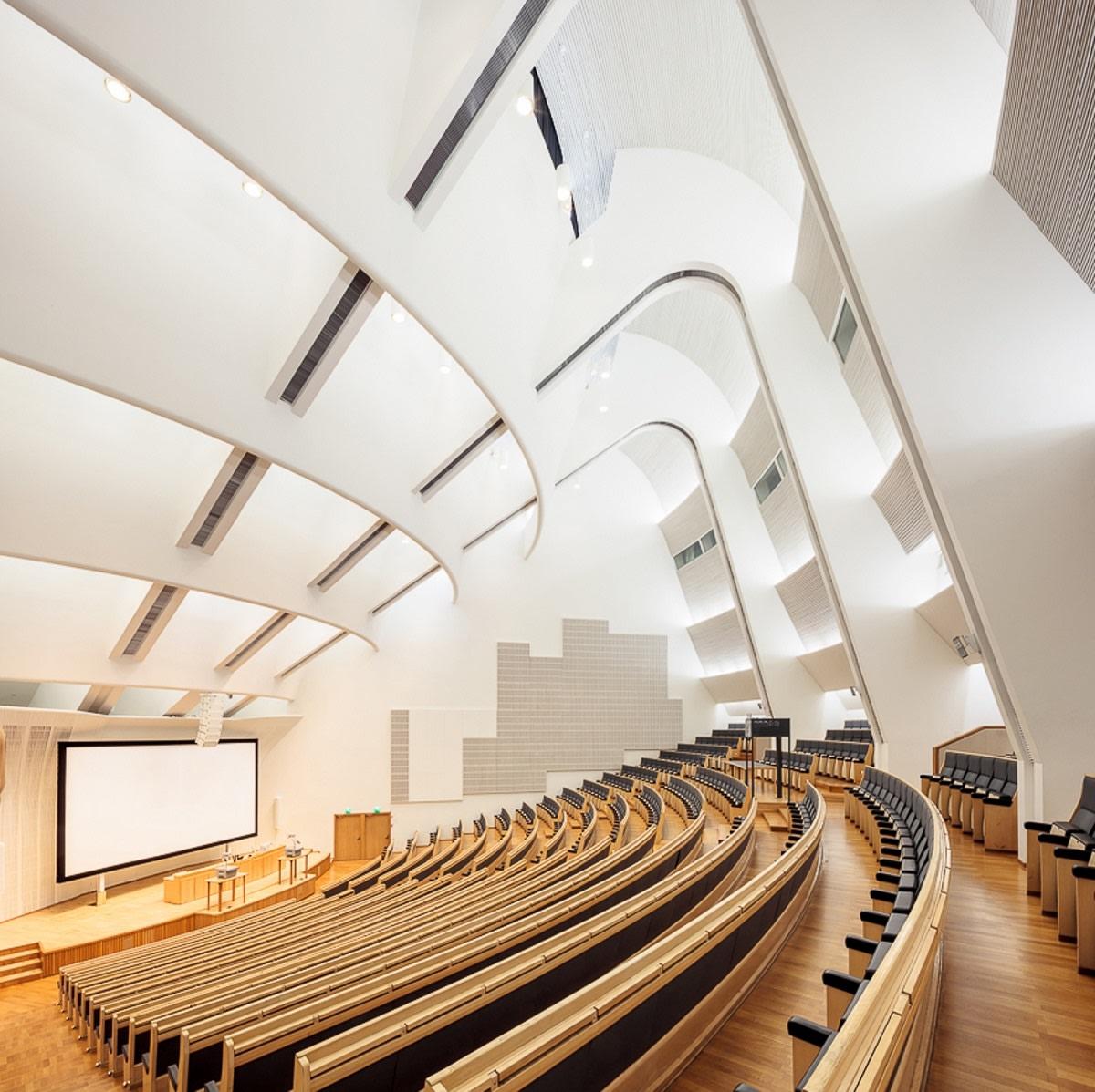 Auditorium of the University of Technology, Helsinki by Alvar Aalto (1964)   Source: finnisharchitecture.fi