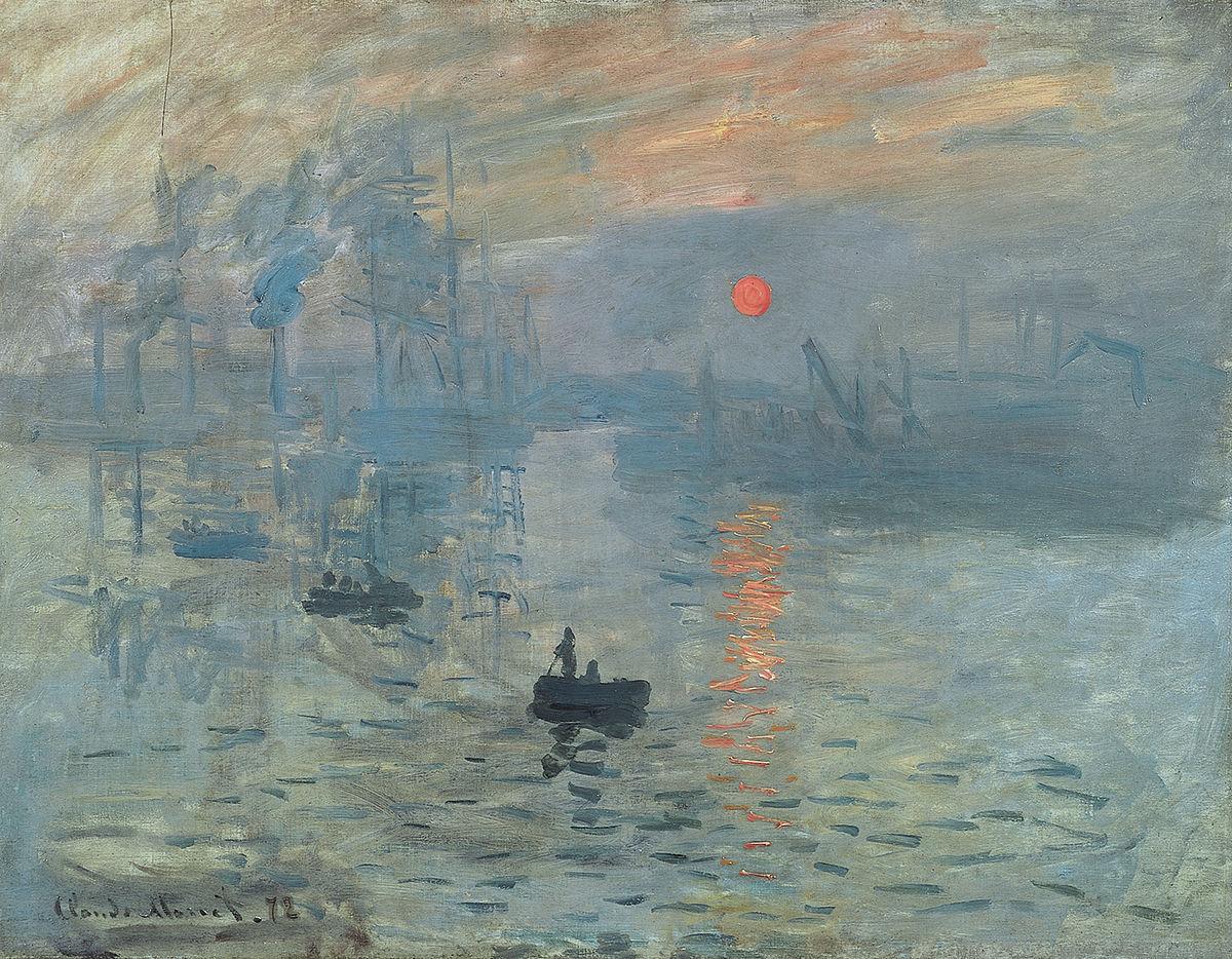 Monet's Impression, soleil levant (1872) | Source: wikimedia.org