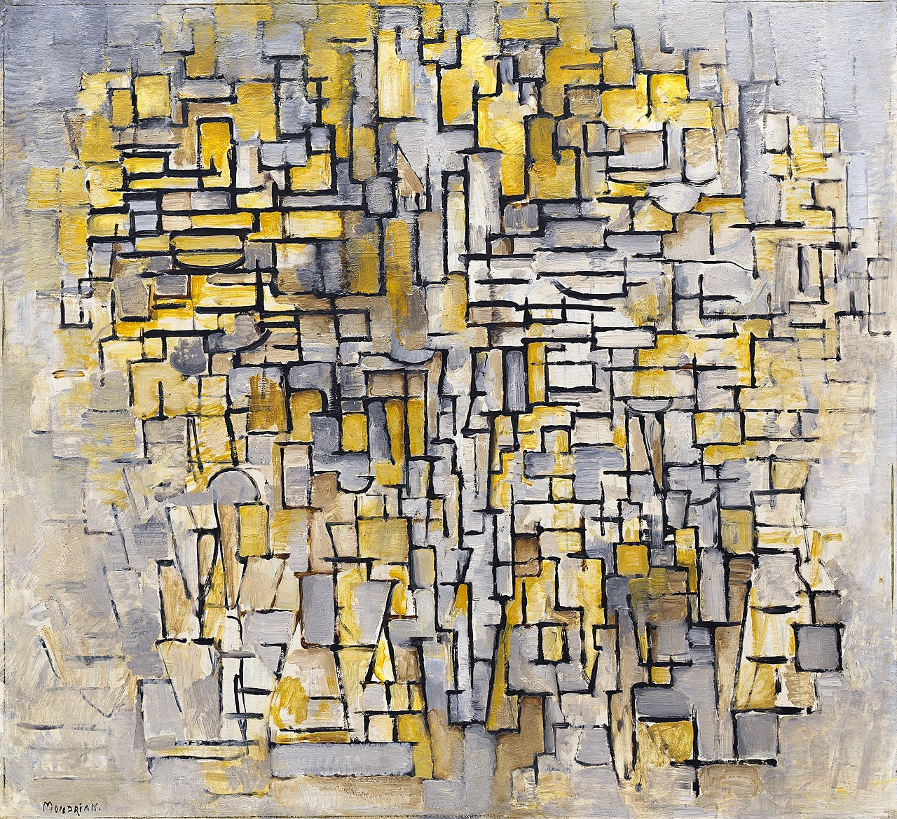 Piet Mondrian's Tableau No. 2/Composition No. VII (1913) | Source: guggenheim.org