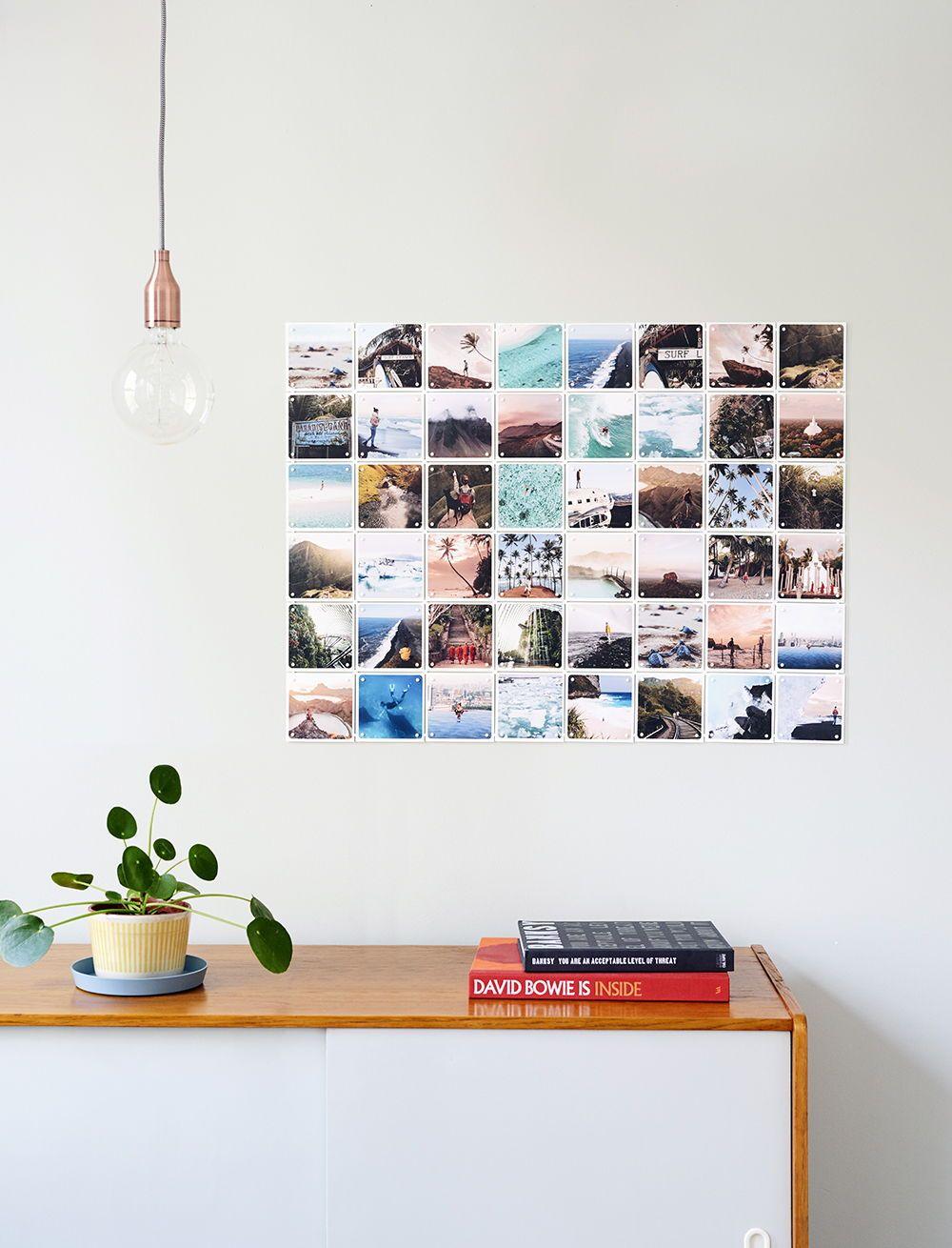 Personal photo wall | Source: ixxiyourworld.com