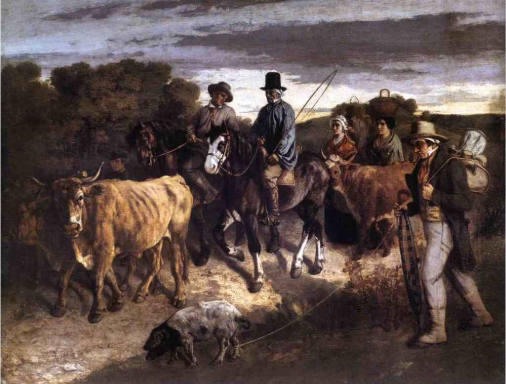 Farmers of Flagey on the Return From the Market (1850) by Gustave Courbet | Source: bestarts.org