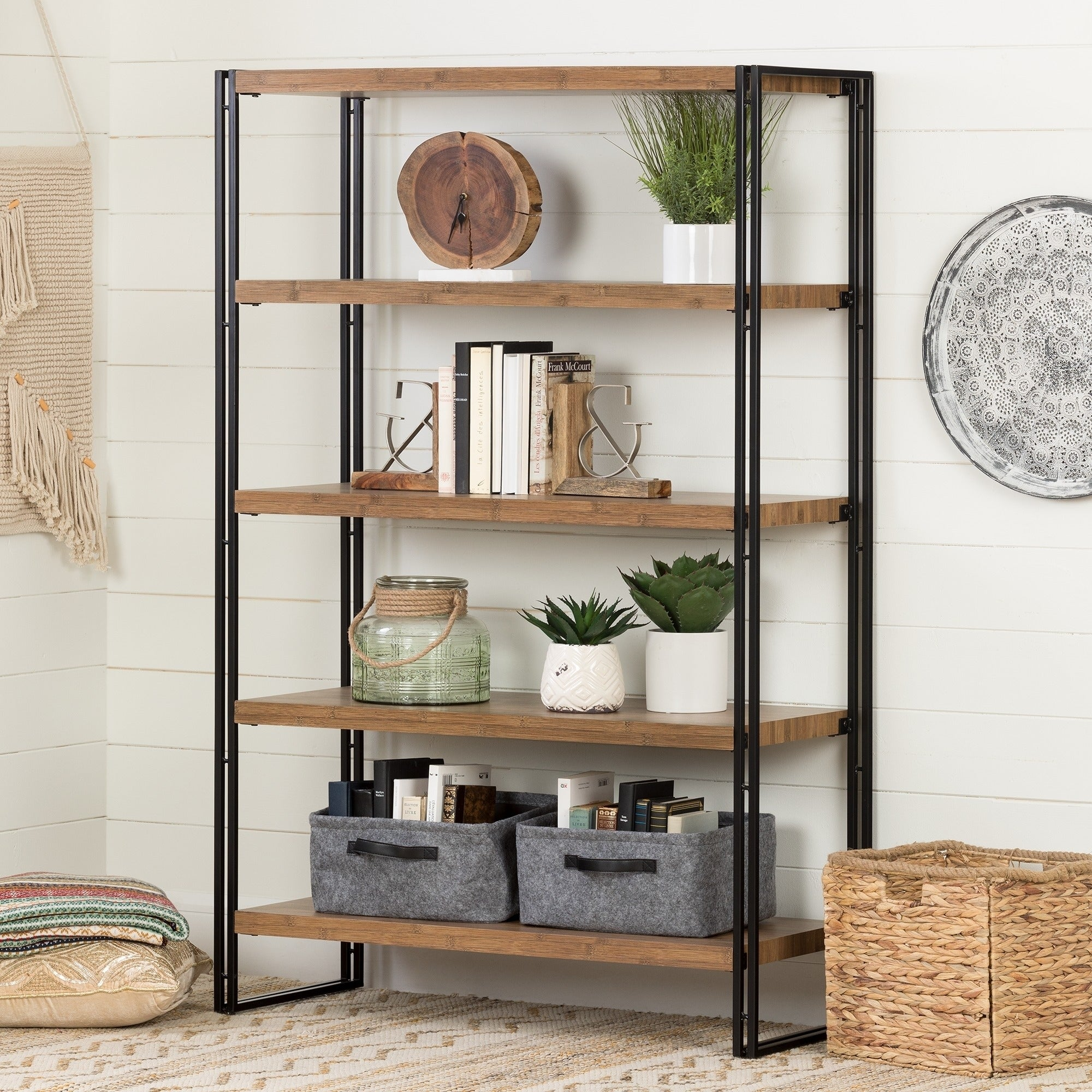 Shelving unit for uncluttering things | Source: overstock.com