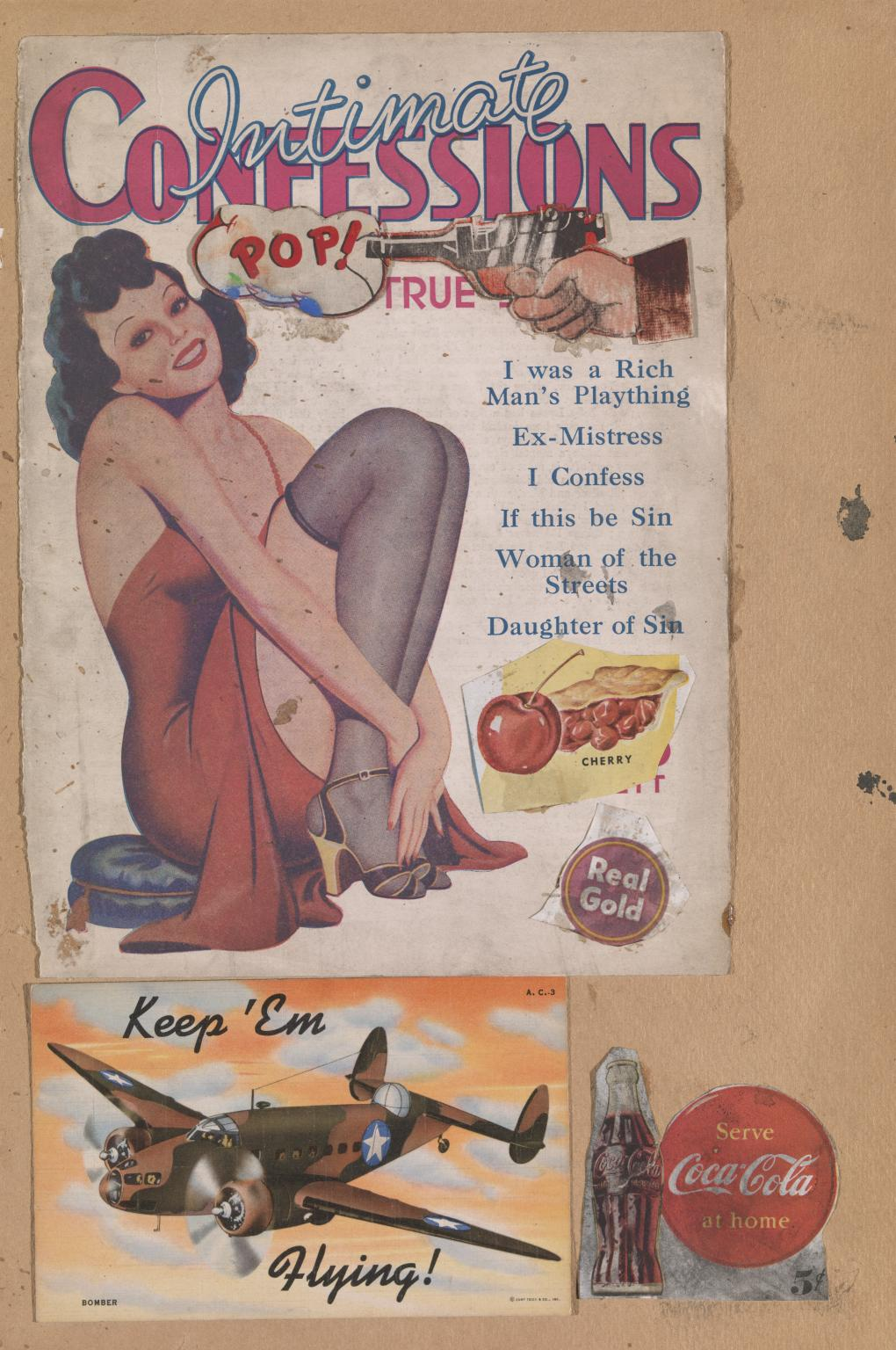 Paolozzi's I was a Rich Man's Plaything (1947) | Source: tate.org.uk