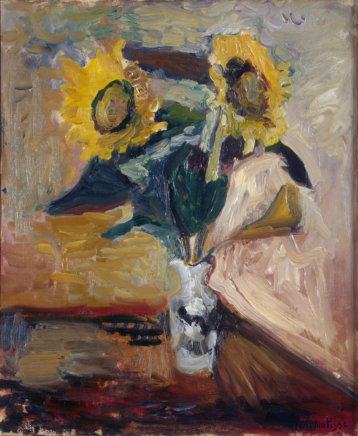 Matisse's Vase of Sunflowers (1898) | Source: hermitagemuseum.org