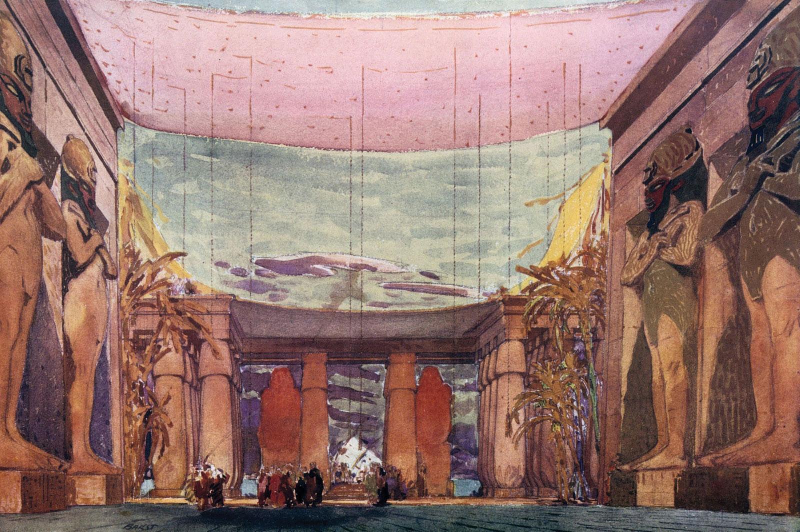 Léon Bakst's set design for the Ballet Russes which inspired Art Deco colors   Image source: Britannica.com