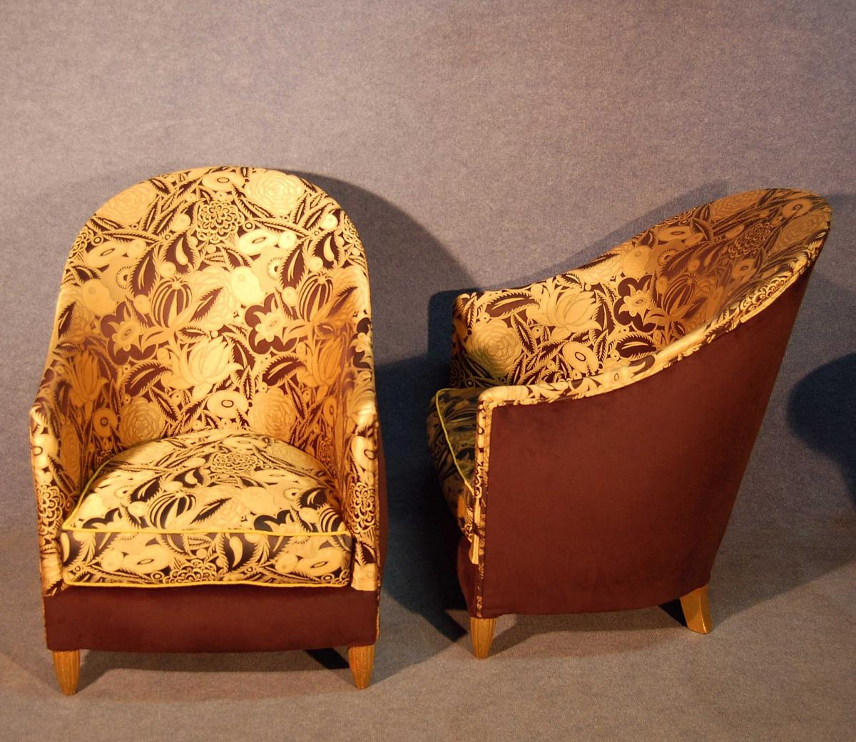 Art Deco armchairs by Maurice Dufrêne   Image source: twistmodern.com