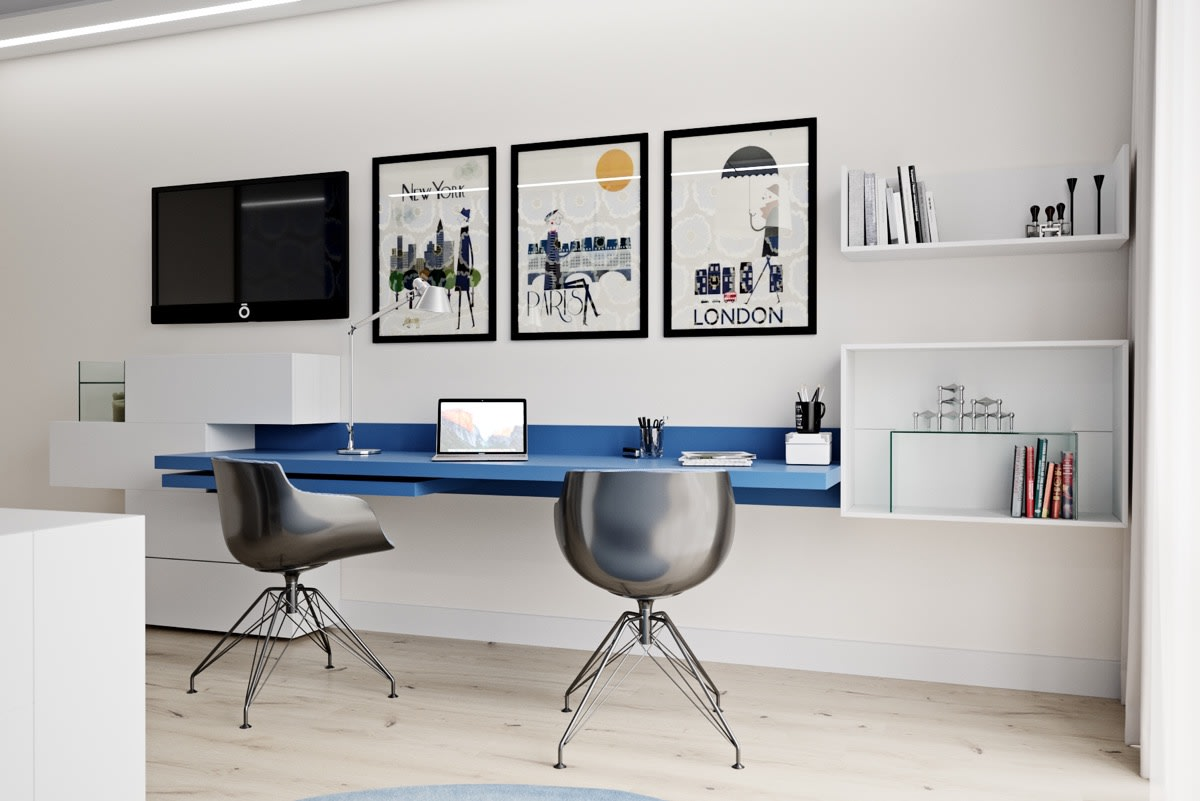 Artworks for home office | Source: awesomedecors.us