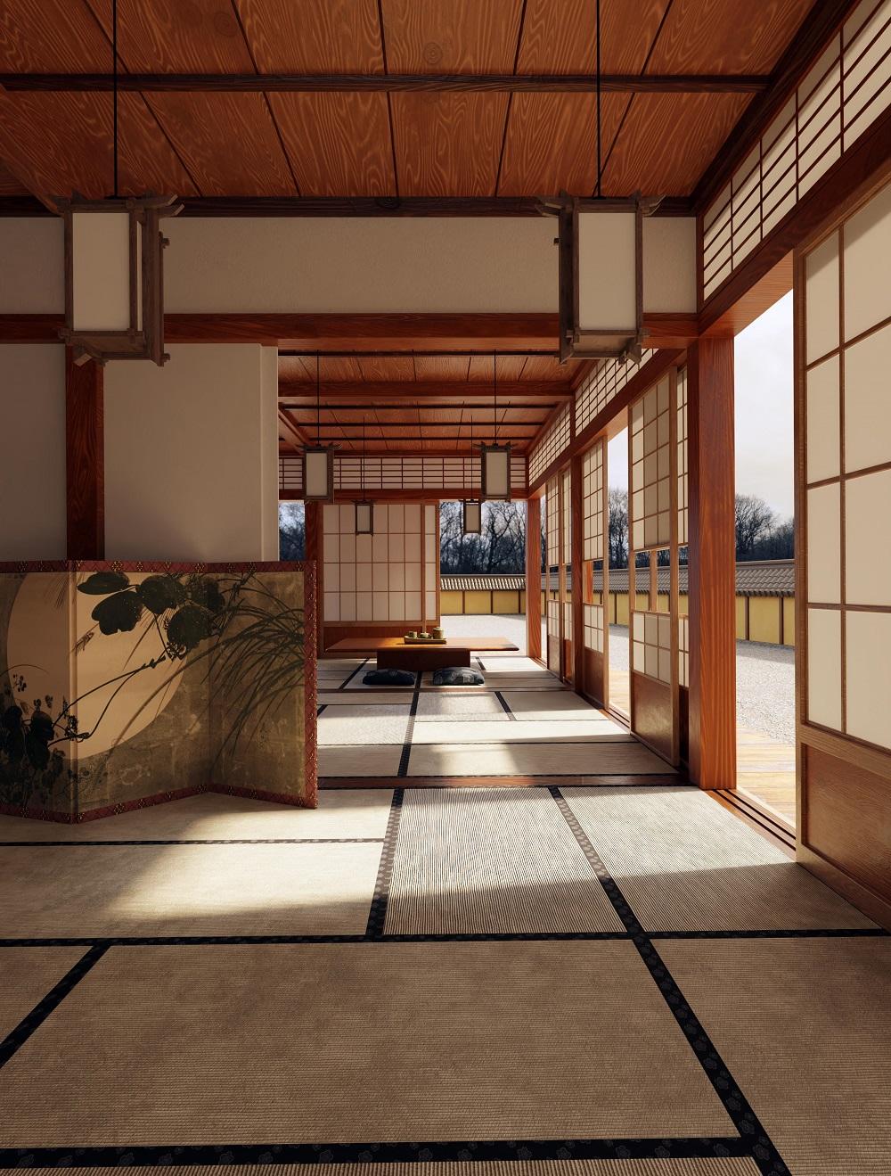 Japanese Zen interior | Source: blenderartists.org