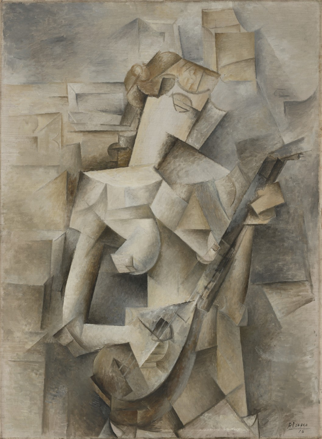 Picasso's Girl with a Mandolin (Fanny Tellier) (1910) | Source: moma.org