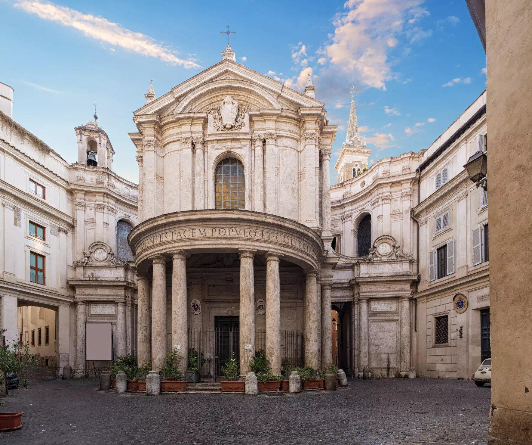 Francesco Borromini's Santa Maria della Pace (1656-68) | Source: colosseumrometickets.com
