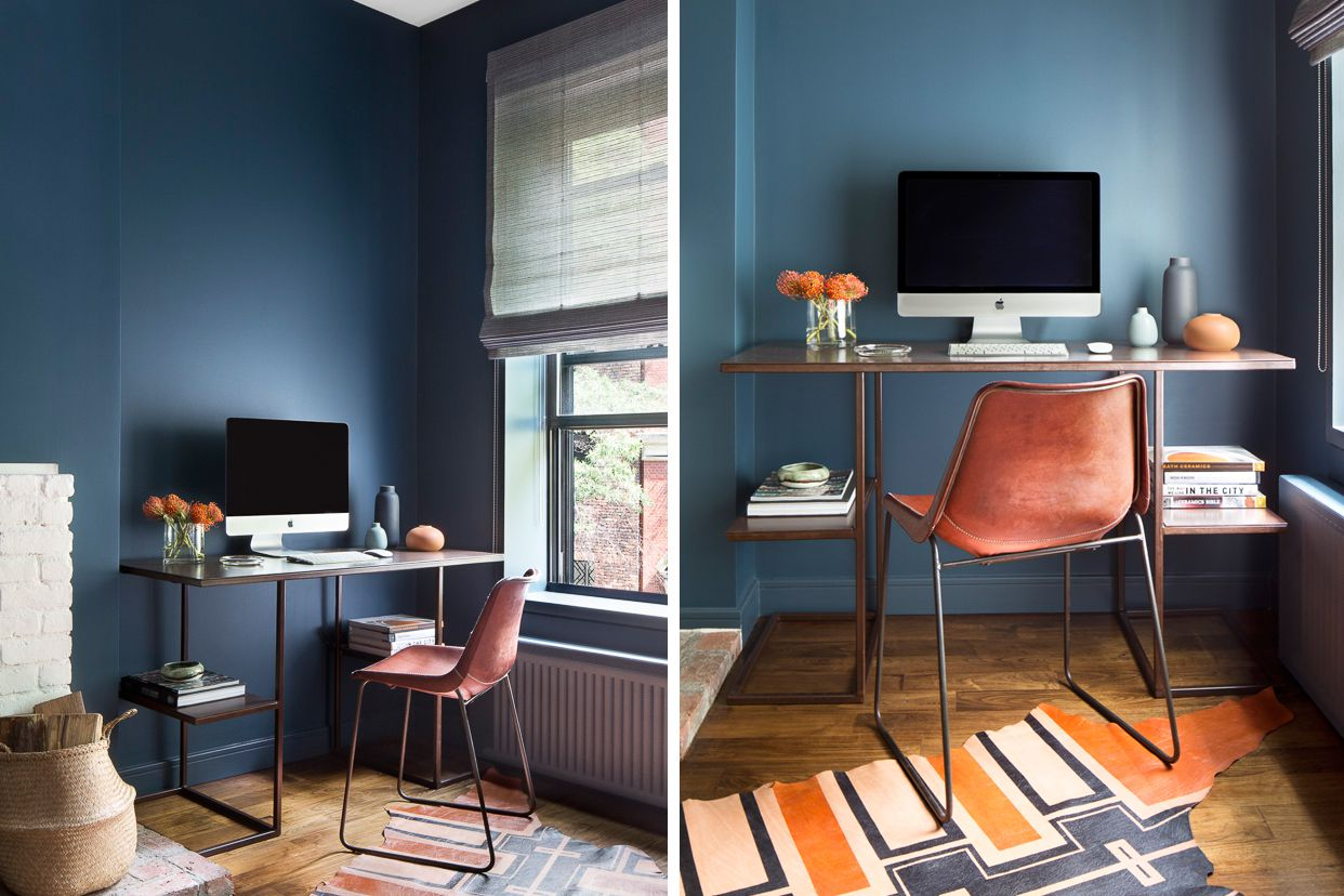 Home office in blue | Source: thespruce.com