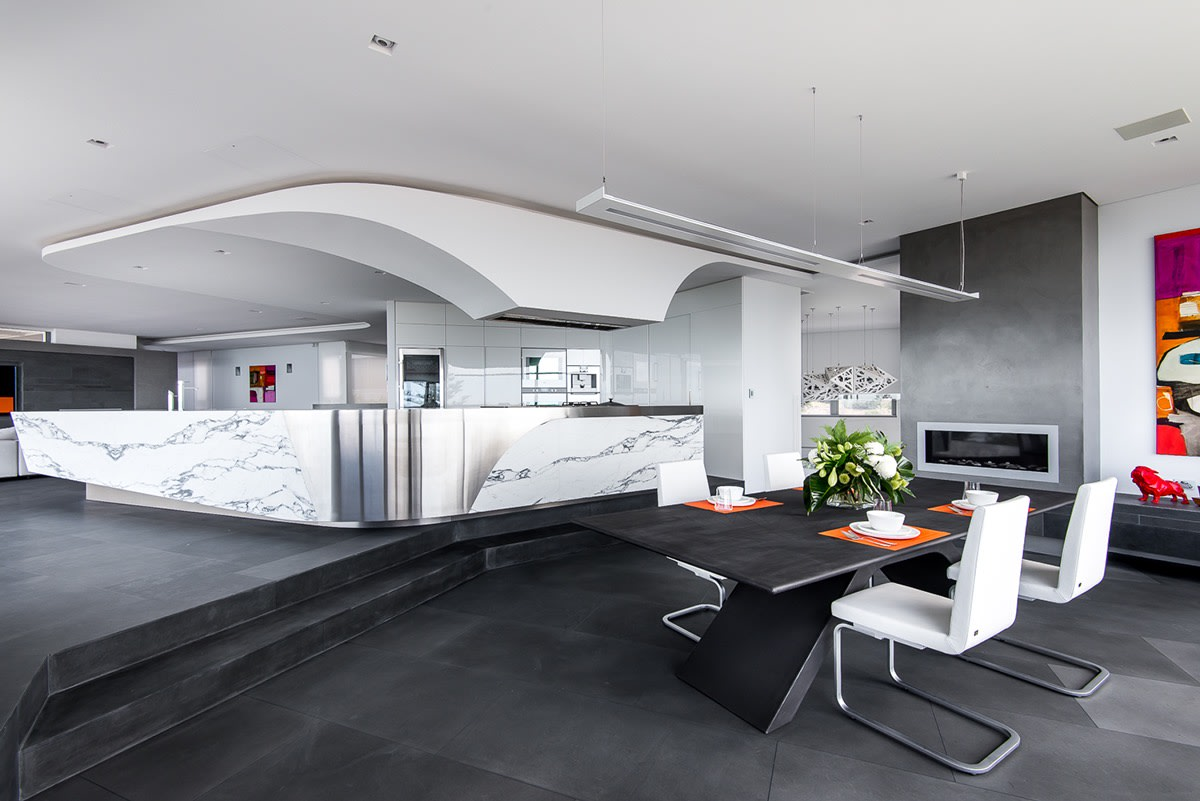 Futuristic kitchen | Source: home-designing.com