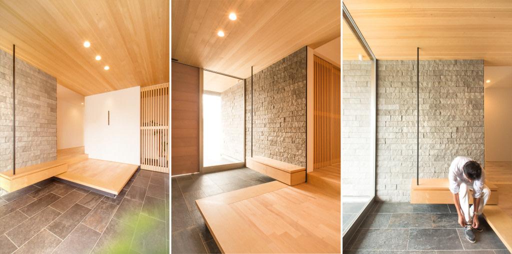 Genkan, the Japanese entry way | source: yonemoku.co