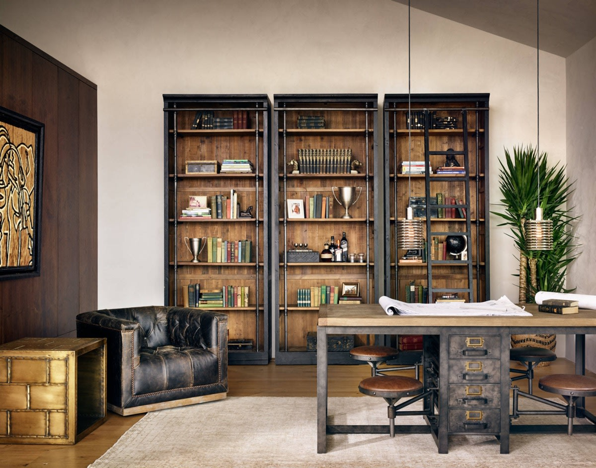 Industrial home office | Source: home-designing.com