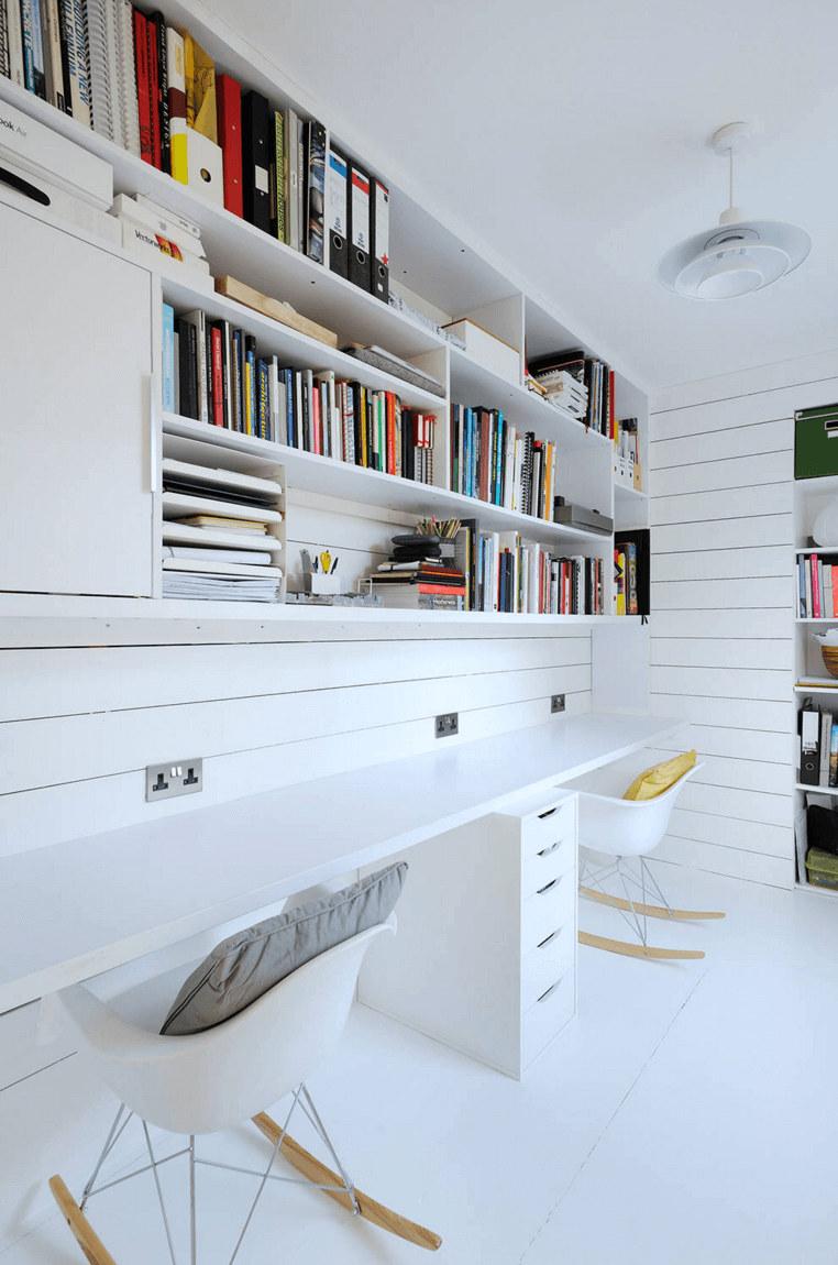 Open shelving for bedroom office | Source: freshome.com