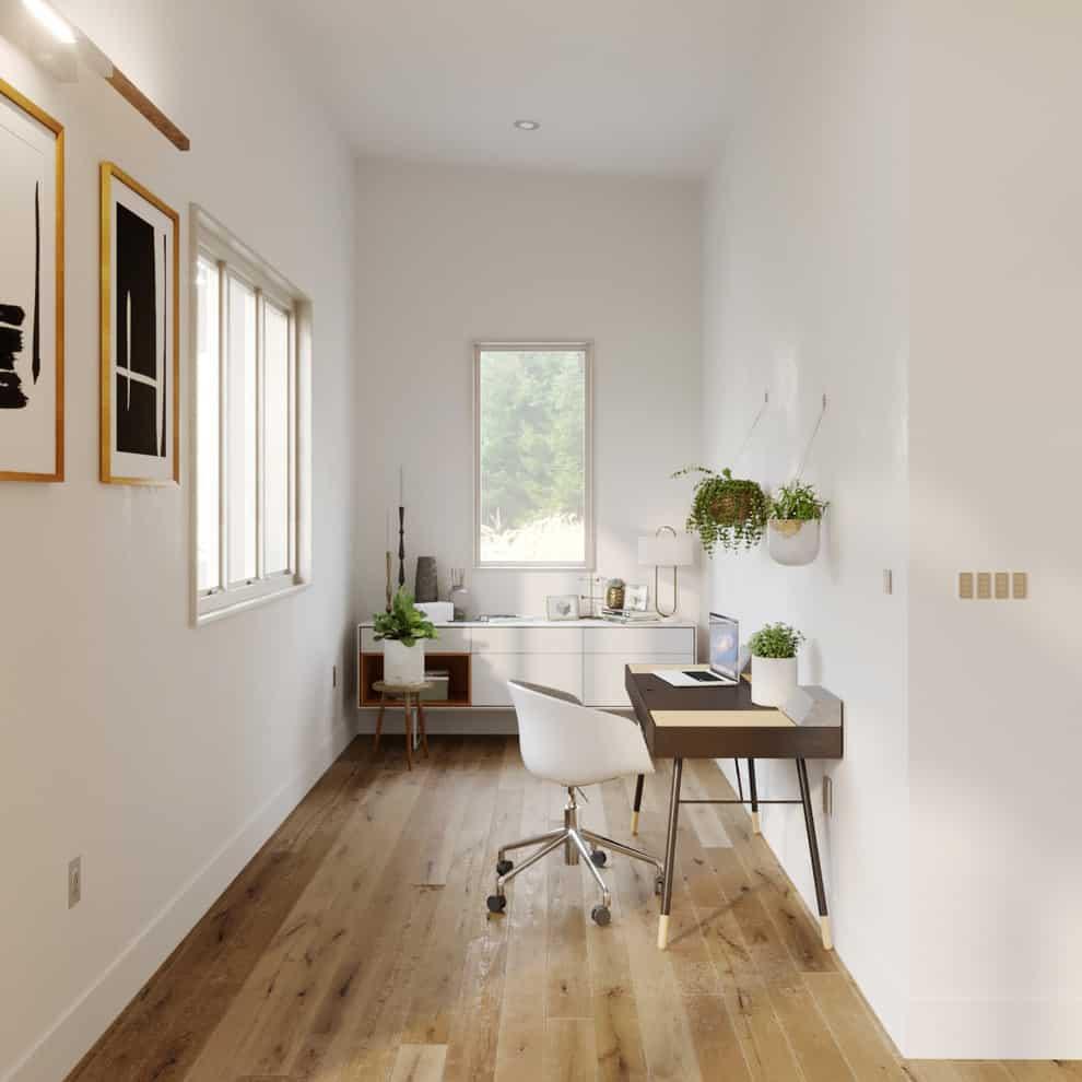 Scandinavian home office | Source: homesthetics.net