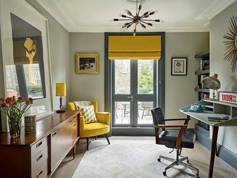Mid-century modern office | Source: IG @cazmyersdesign