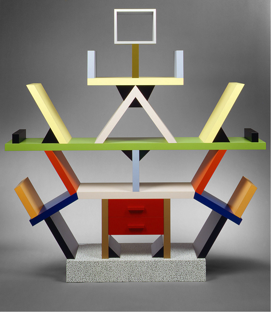 The iconic Sottsass' Carlton bookcase (1981) | Image source: metmuseum.org