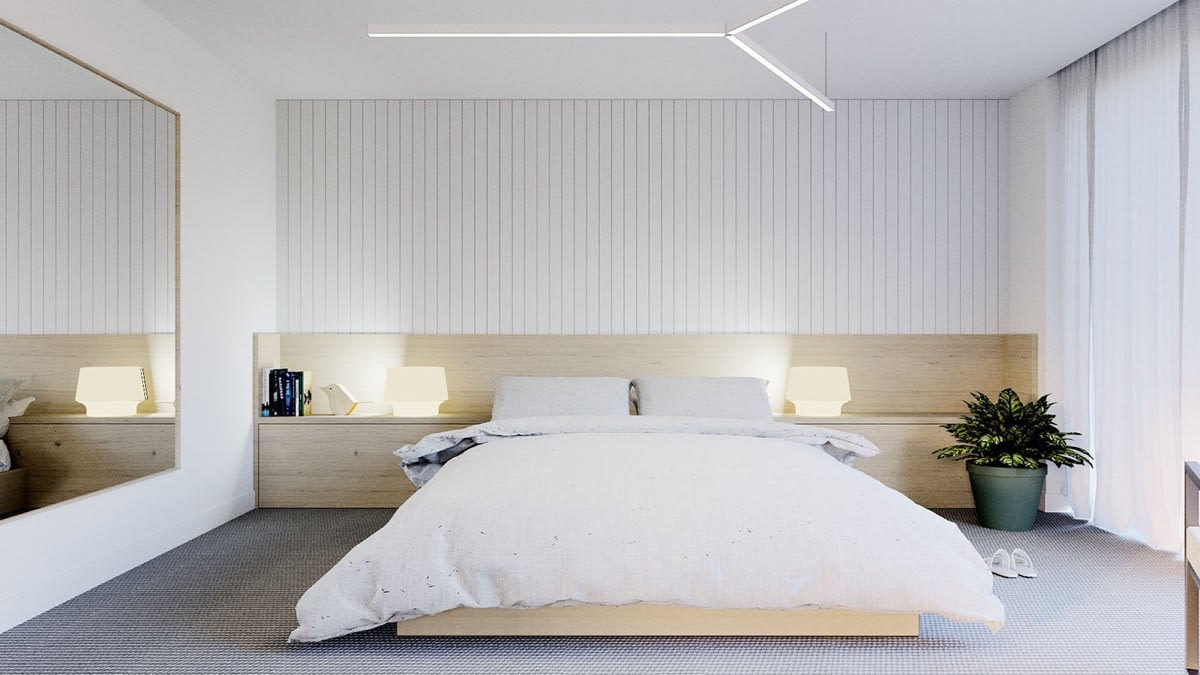 Minimalist bedroom | Source: home-designing.com