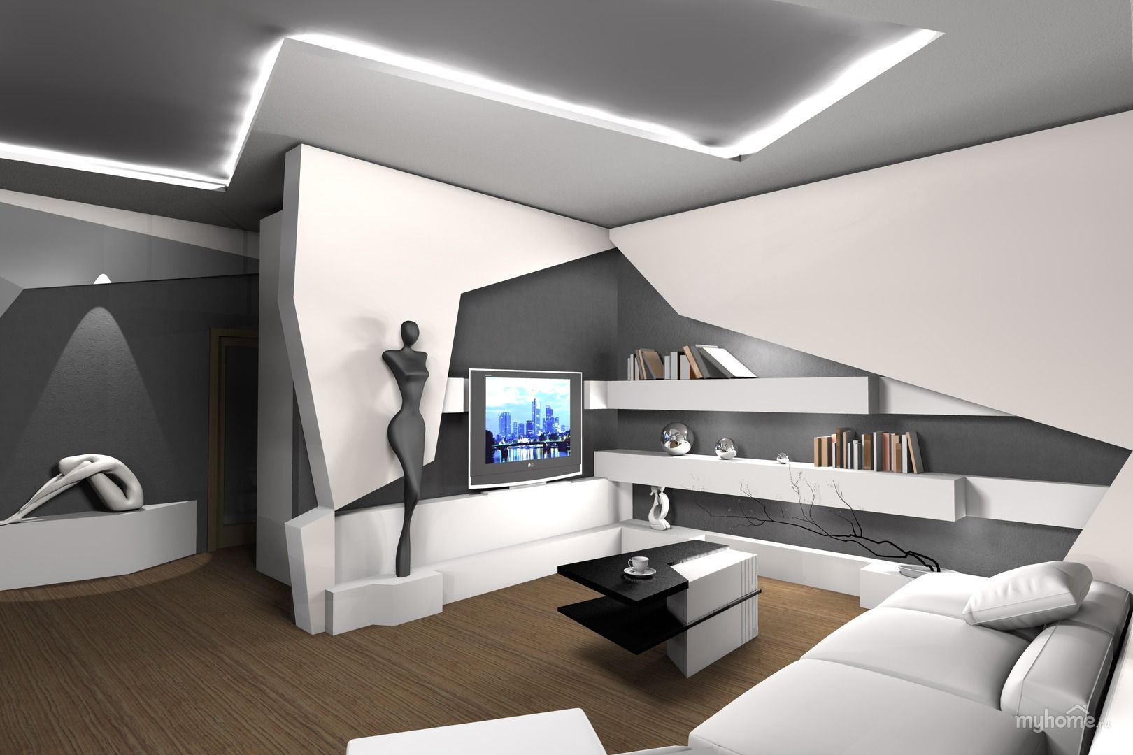 Futuristic interior | Source: smalldesignideas.com