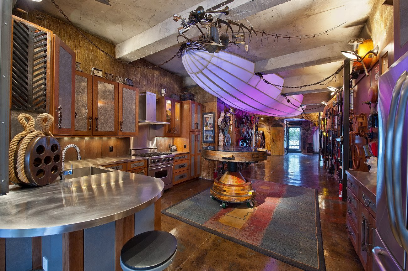 Steampunk kitchen interior | Source: hotpads.com