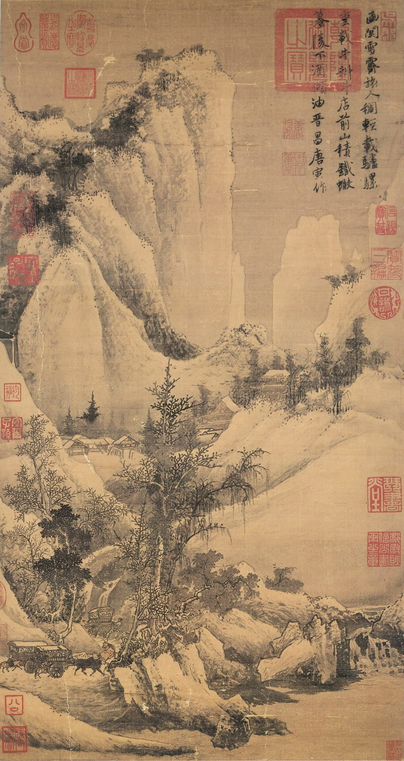 Clearing after Snow at the Han Pass by Tang Yin, in Xieyi style | Source: comuseum.com