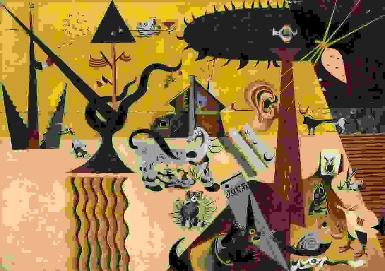 The Tilled Field (1923-4) by Joan Miró | Source: guggenheim.org