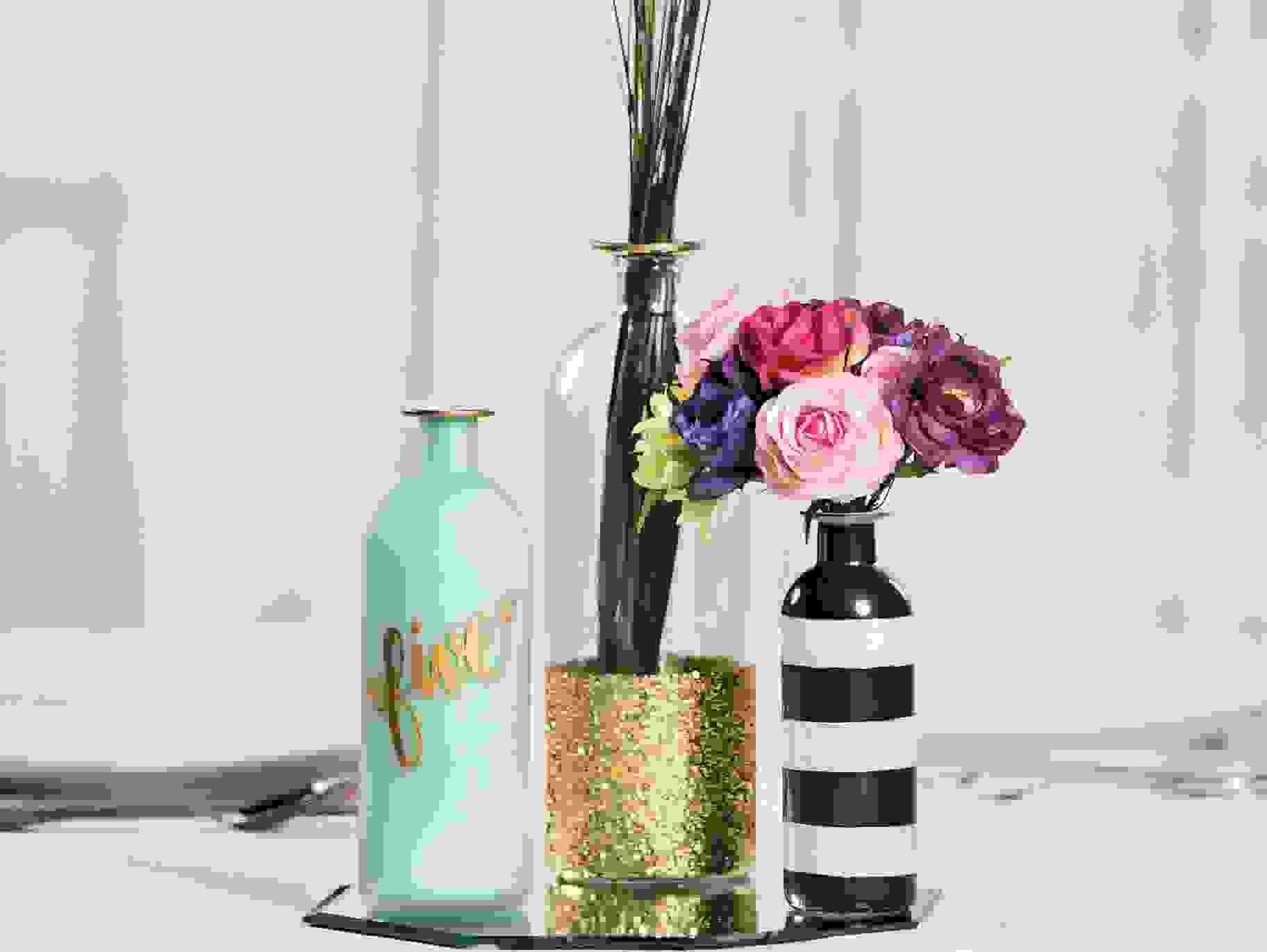 DIY glass vases   Source: orientaltrading.com