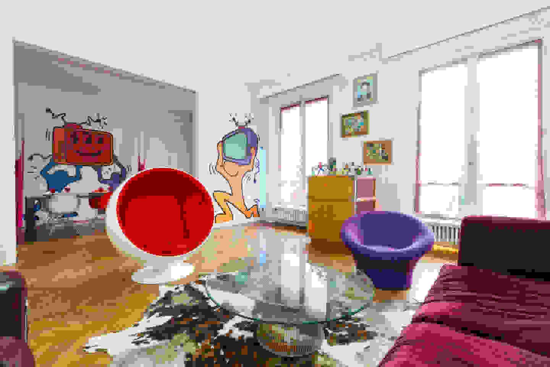 Pop art interior   Source: smalldesignideas.com