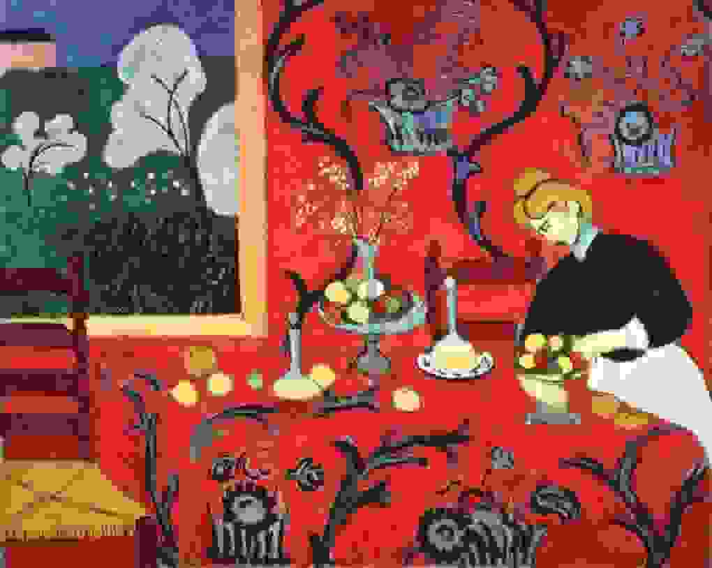 Matisse's The Dessert: Harmony in Red (1908) | Source: henrimatisse.org