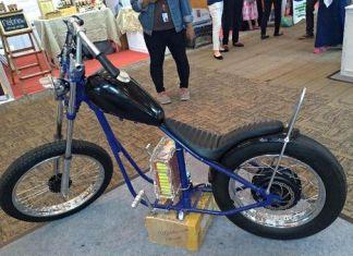 Chopper Listrik Terinspirasi Motor Jokowi