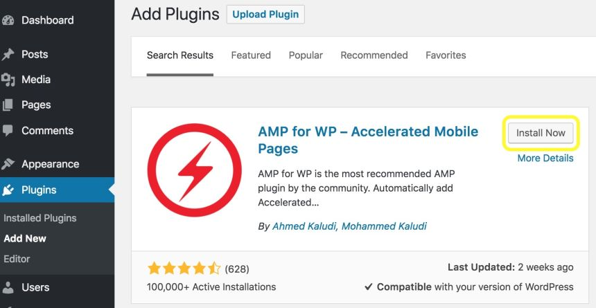 screenshot-halaman-plugin-AMP-for-WP-Accelerated-Mobile-Pages-WordPress