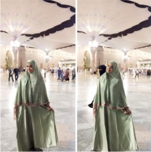 Gamis Sarta Hijab Hejo Pastel
