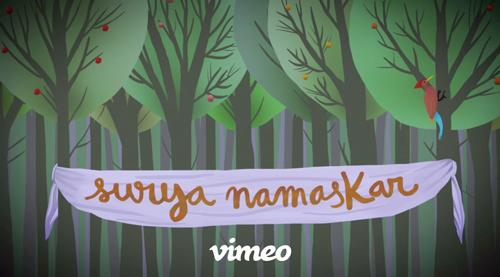Surya Namaskar Vimeo video by Elena Nogués still image of woodpecker in a forest