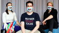 Transparent masks for hearing impaired people