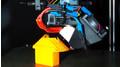 Neu entwickelter Druckkopf beim Drucken eines 90° Überhangs ohne Stützmaterial.