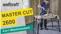 MASTER cut 2600: Multifunktionaler, mobiler Maschinentisch
