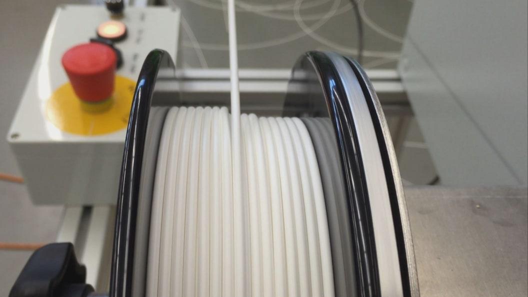 Aufwicklung der Filamente