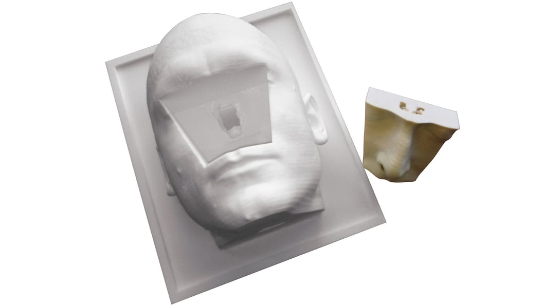 Trainings model with removed nose part