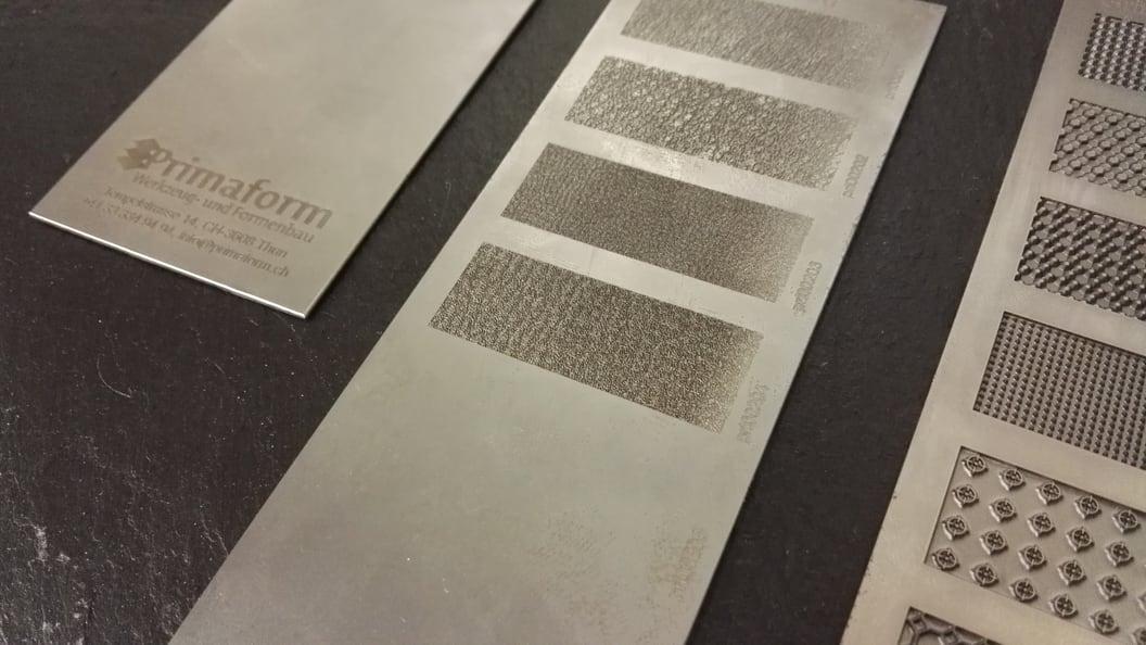 Verschiedenste Oberflächendesigns mittels Lasertexturierung