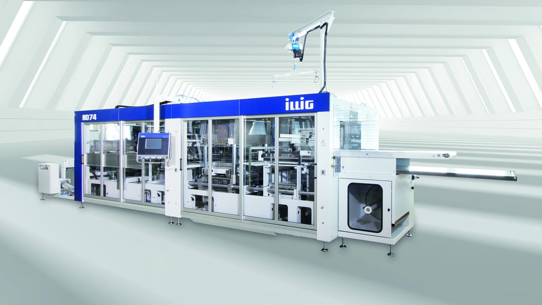 The new ILLIG thermoforming machine RD74d