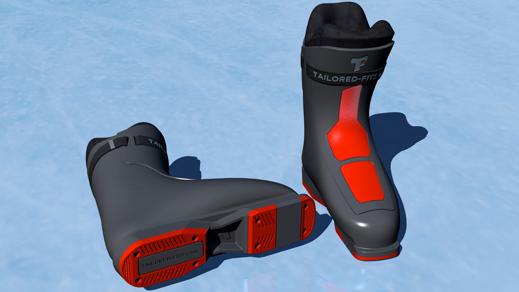 Tailored Fits ski boot insole, final prototype render © Tailored Fits