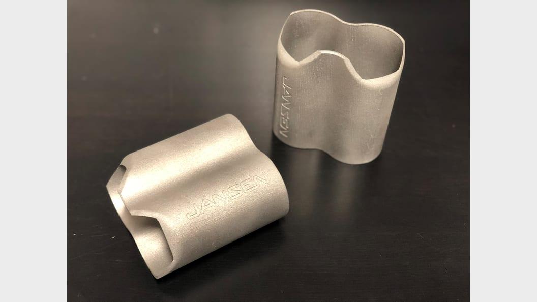 Additiv gefertigte Verstärkungshülse aus Edelstahl