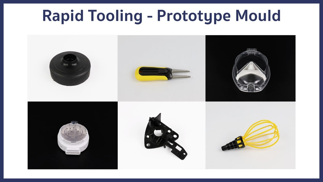 Some examples of parts we produced with prototype molds.