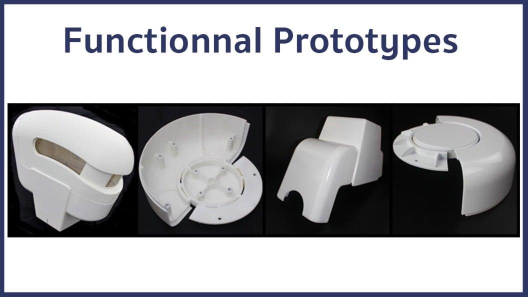 Einige Beispiele für die für dieses Projekt produzierten Teile.