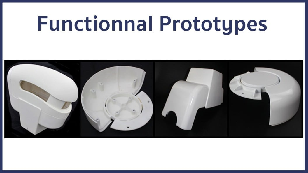Some examples of the parts produced for this project.