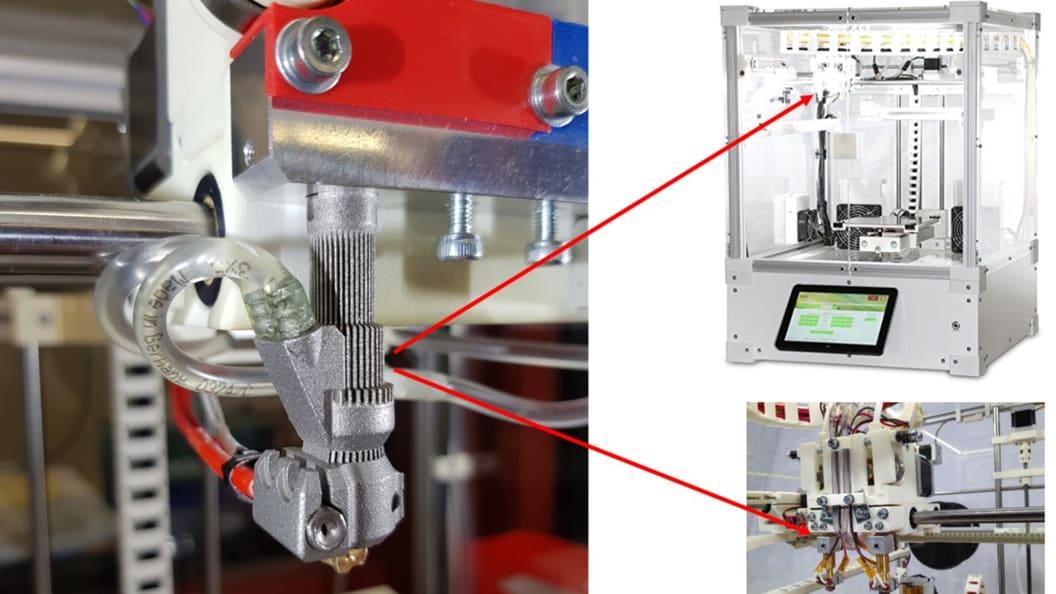 Extruderventil 2 mit integrierter Kühlung für FDM Drucker