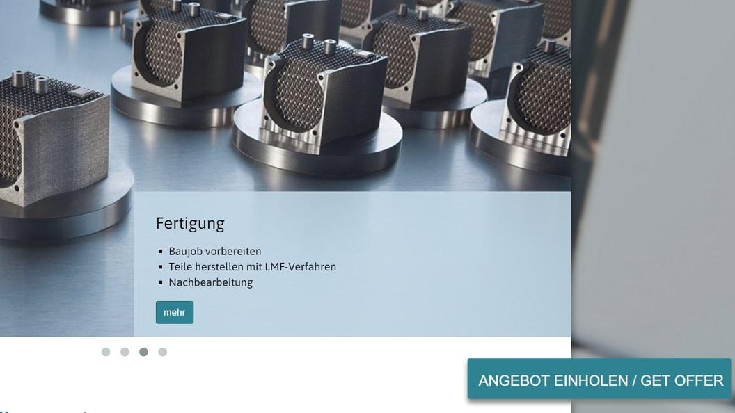 """Mit """" OFFERTE EINHOLEN"""" einfach und bequem Bauteildaten hochladen und Angebot erhalten"""