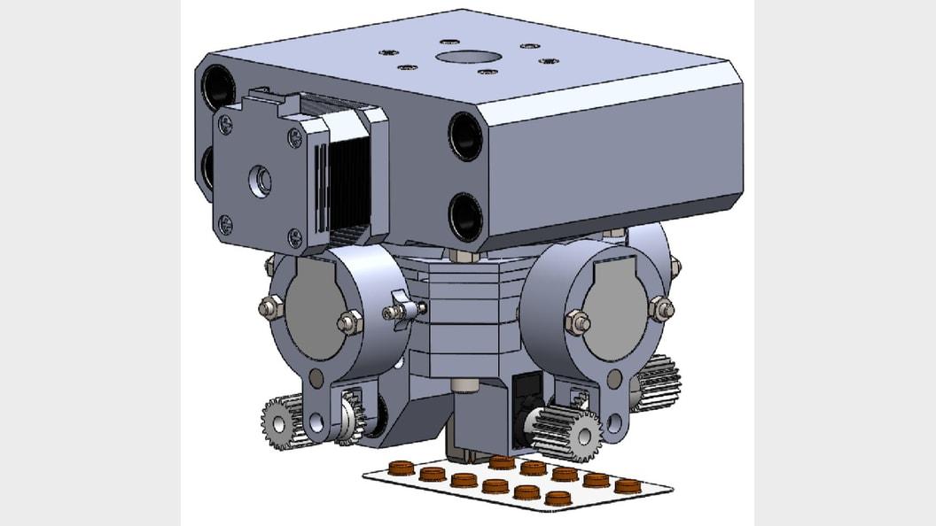 CAD model of the upper deblistering module